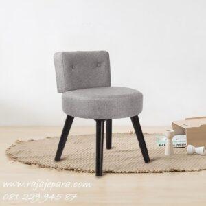 Kursi meja rias minimalis bulat atau kotak dari kayu model desain modern mewah dan klasik warna putih ukuran shabby anak perempuan harga murah