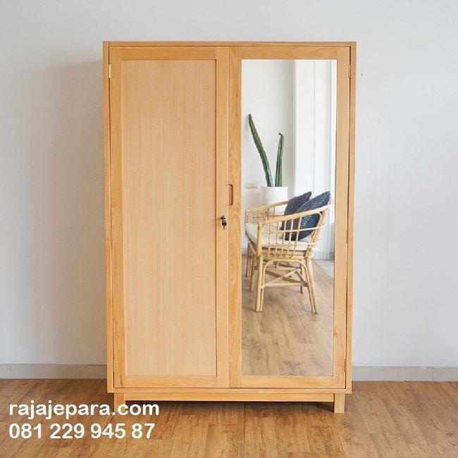 Lemari Pakaian Kaca 2 Pintu - rajajepara.com