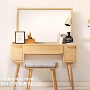 Meja rias kayu jati Jepara minimalis mewah modern dan klasik kuno jaman dulu ukir-ukiran model desain set kursi terbaru kaca cermin harga murah