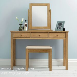 Meja rias kecil simple minimalis mewah modern dan klasik sederhana terbaru model desain set kursi dan kaca cermin laci anak mungil harga murah
