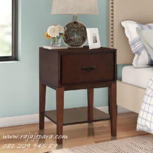 Nakas murah meja hias pajangan model 1 laci dan rak lemari desain minimalis mewah dan klasik terbaru kayu jati Jepara di Jakarta harga murah