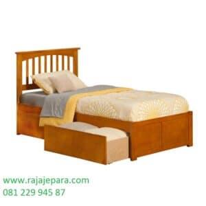 Tempat tidur kayu jati ukuran 120 harga murah model desain satu set furniture kamar anak laci multifungsi sliding minimalis mewah modern dan klasik