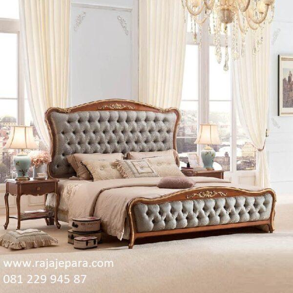Tempat tidur mewah ukir Jepara dari kayu jati tua solid model desain set kamar minimalis modern dan klasik terbaru di dunia jok busa harga murah