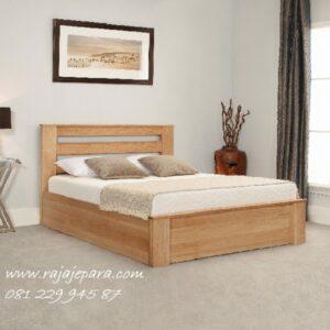 Tempat tidur minimalis kayu jati dari Jepara model set kamar dewasa sederhana desain mewah modern dan klasik terbaru pilihan harga murah