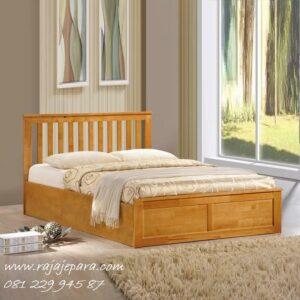Tempat tidur minimalis kayu jati Jepara model set kamar dewasa desain modern mewah dan klasik retro vintage terbaru gambar pilihan harga murah