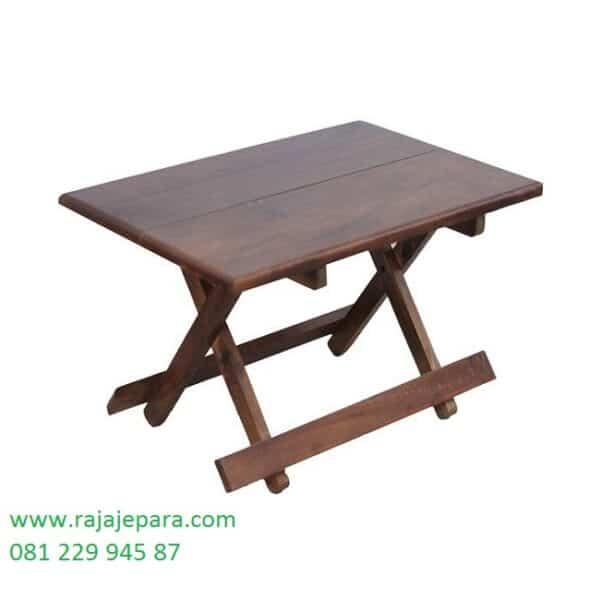 Meja belajar lipat kayu jati anak-anak dan dewasa model bisa di simpan di dinding tinggi desain karakter laptop minimalis harga murah