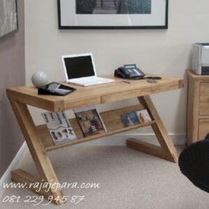 Meja belajar unik dari kayu jati untuk anak perempuan dan laki-laki kecil dan dewasa model desain minimalis klasik dan terbaru harga murah