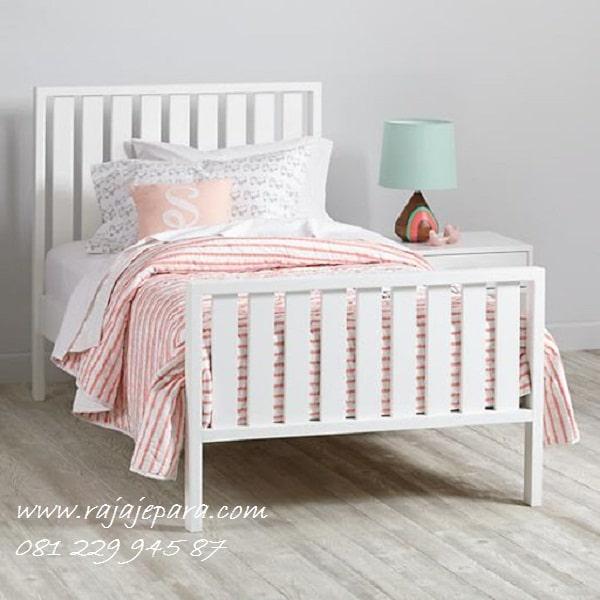 Ranjang tempat tidur anak minimalis mewah modern klasik terbaru model desain set kamar perempuan dan laki-laki kayu besi Jepara harga murah