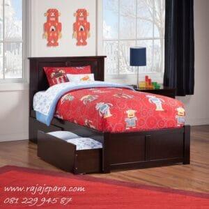 Tempat tidur anak jati kayu minimalis mewah modern dan klasik terbaru model desain untuk perempuan dan laki-laki Jepara harga murah