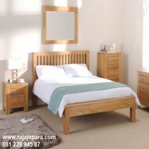 Tempat tidur anak kayu jati Jepara model desain set kamar perempuan remaja minimalis mewah dan modern klasik dari gambar terbaru harga murah