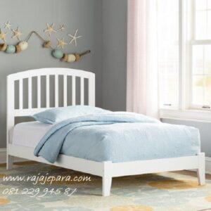 Tempat tidur anak kecil sederhana model desain contoh foto gambar set kamar minimalis mewah modern dan klasik terbaru warna putih harga murah