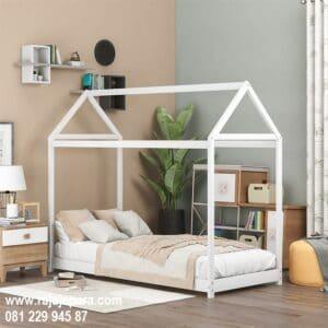 Tempat tidur anak laki laki minimalis mewah modern dan karakter bentuk mobil terbaru warna putih model desain set kamar sederhana harga murah