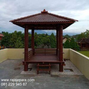 Gazebo murah minimalis klasik unik sederhana model desain saung rumah kayu kelapa dan jati Jepara untuk taman 2x2 selangor jedah harga murah