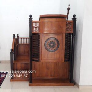 Mimbar-Masjid-Minimalis-Kayu-Jati